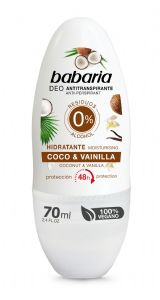 Babaria Antiperspirant roll on Deodorant with Moisturising Coconut and Vanilla 70ml
